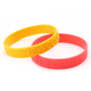 Embossed Non Color Silicone Wristands