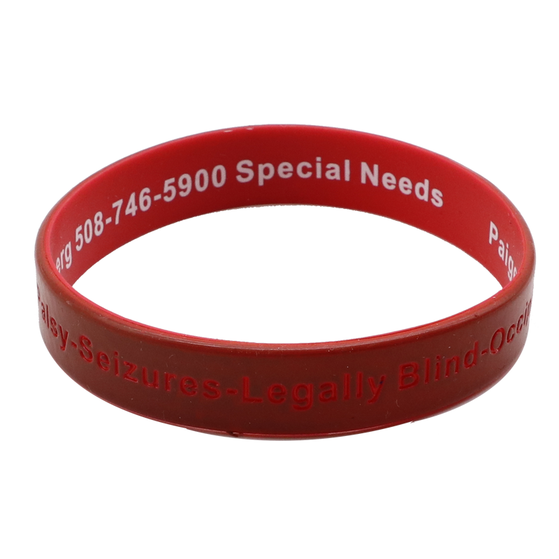 High Quality Custom Two Layer Color Coated Wristbands
