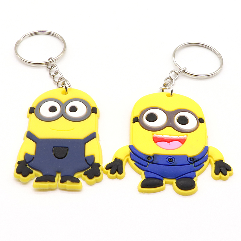 Custom cheap soft pvc 2D 3D logo keychain
