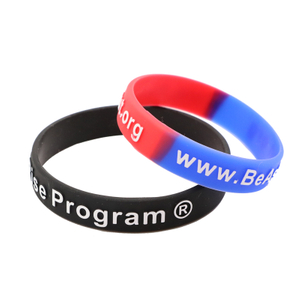 skyee Fashionable Style Customized Silicone Wristbands With Personal Logo Embossed Printed Silicone Bracelets