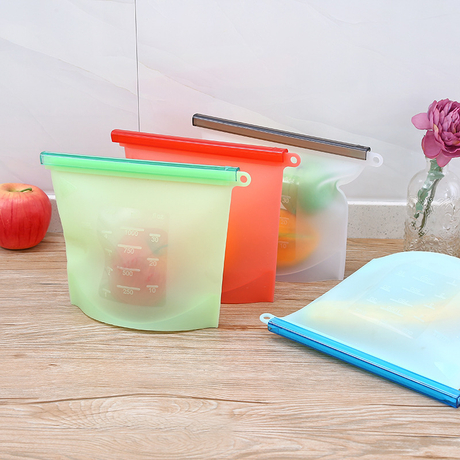 Skyee FDA Freezer Reusable Silicone Food Vacuum Storage Preservation Bag