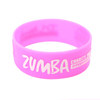 skyee Pink embossed printing silicone bracelets silicone bangles