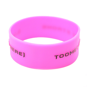 Skyee Embossed Printed Custom Printed Logo Silicone Wristband Bracelets