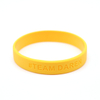 Skyee wholesale Debossed silicone wristband custom rubber bracelets China supplier