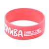 skyee Customized Logo Printing embossed rubber band bracelets