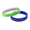 skyee Promotional Embossed Logo wristband custom Colour Printed Silicone Wristbands