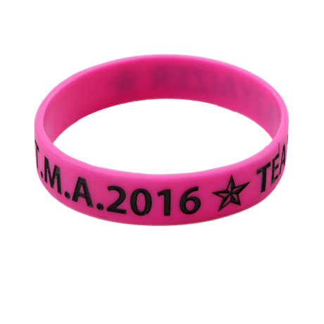 Skyee Wholesale Purple Debossed Logo Color Filled Sports Rubber Souvenir Silicone Wristband Bracelet