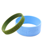 Skyee Custom Design Your Own Embossed Gel Silicone Wristband Bracelet Free Sample
