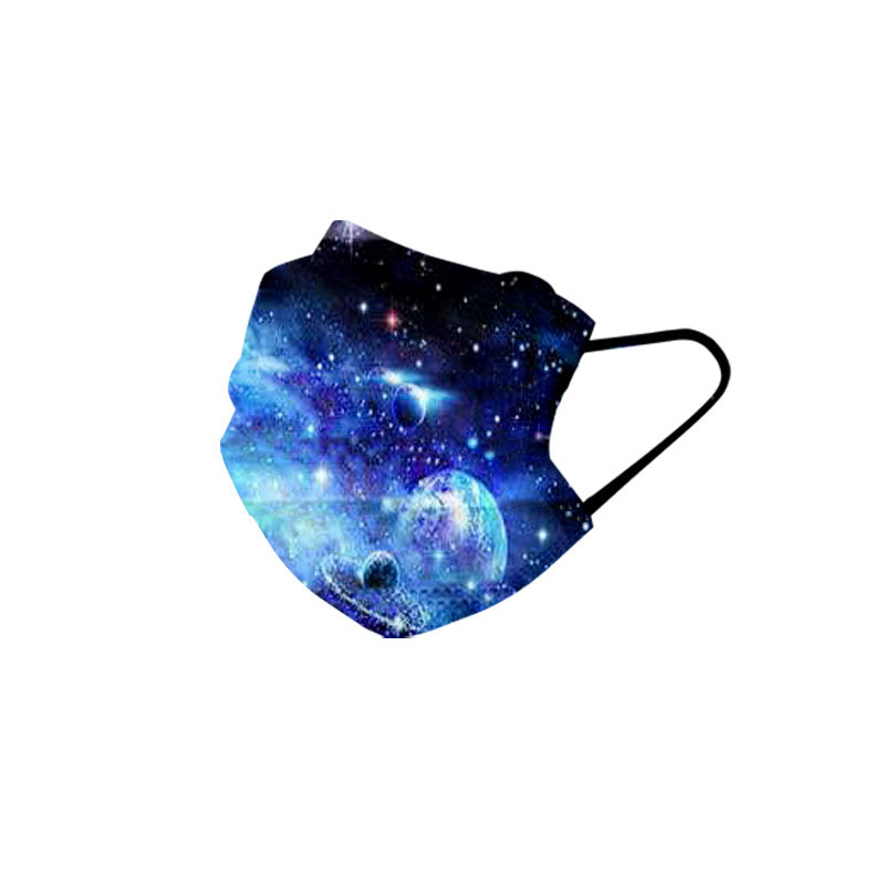 Starry Sky Pattern disposable 3-layer thickened face mask with melt blown cloth