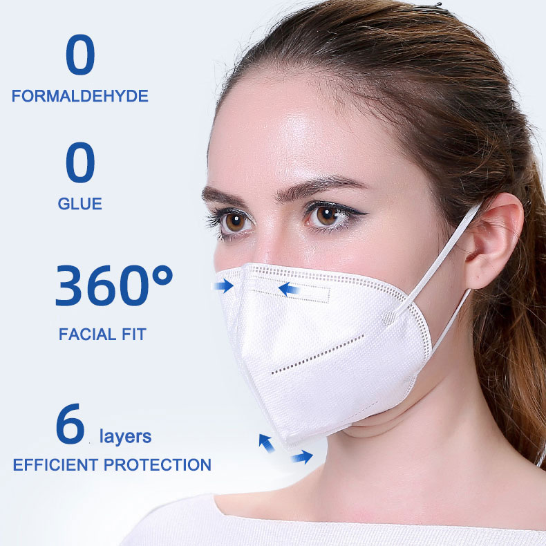 Foldable Anti Spray KN95 face mask with filter