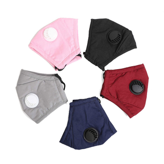 Fashion washable custom cotton cloth face masks with filter